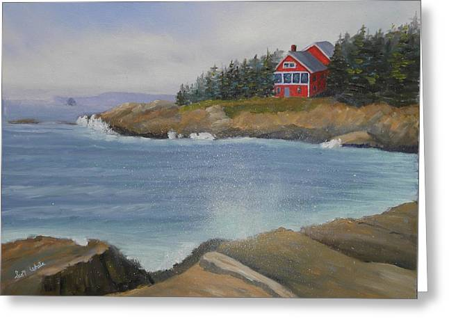 Ocean Cottage Greeting Card