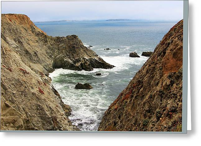 Ocean Cove Greeting Card by Sierra Vance