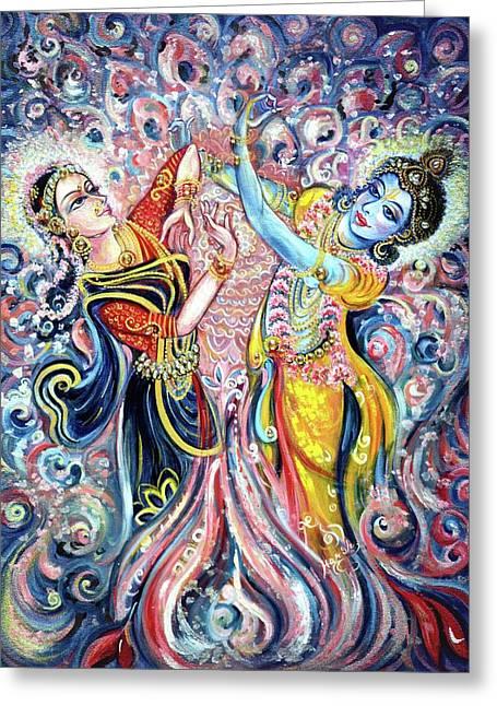 Ocean Dance Greeting Card by Harsh Malik