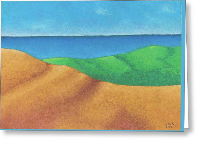 Ocean Daybreak Greeting Card by Anne Katzeff