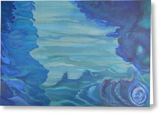 Ocean Dream Greeting Card by Lindie Racz