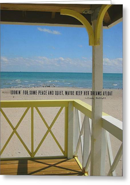 Ocean Dreaming Quote Greeting Card