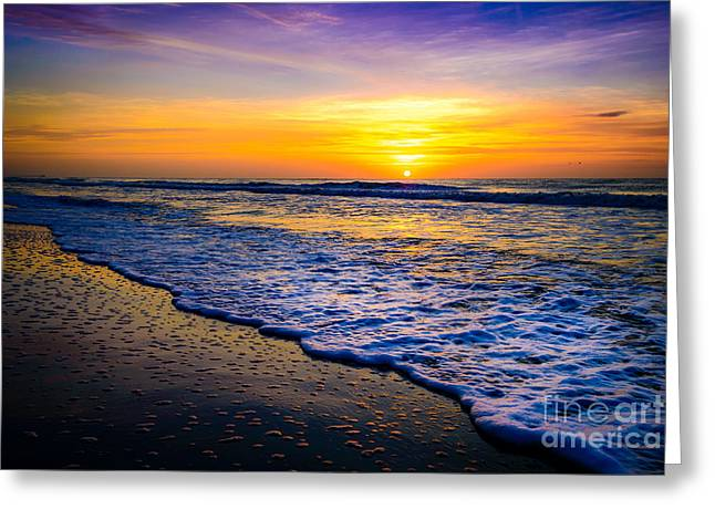 Ocean Drive Sunrise Greeting Card