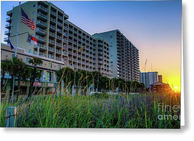 Ocean Drive Sunrise North Myrtle Beach Greeting Card
