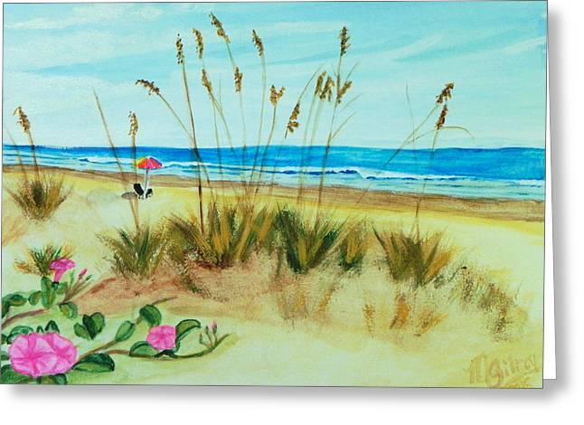 Ocean Dunes Greeting Card by MGilroy