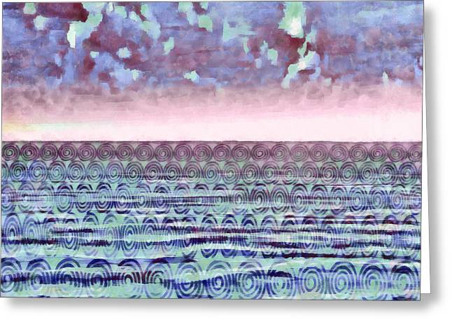 Ocean Fantasy - Abstract Painting Greeting Card by Edward Fielding