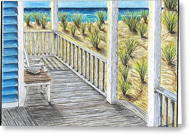 Ocean Front Greeting Card by Chad Brittain