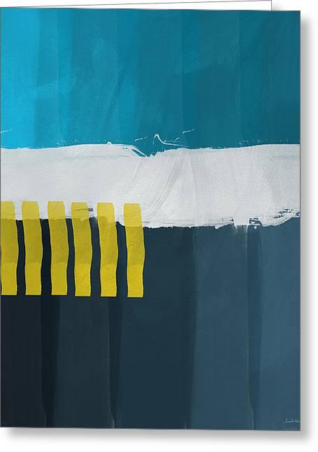 Ocean Front Walk 2- Art By Linda Woods Greeting Card