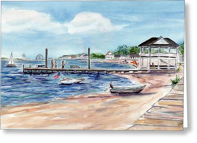 Ocean Gate Boardwalk Greeting Card