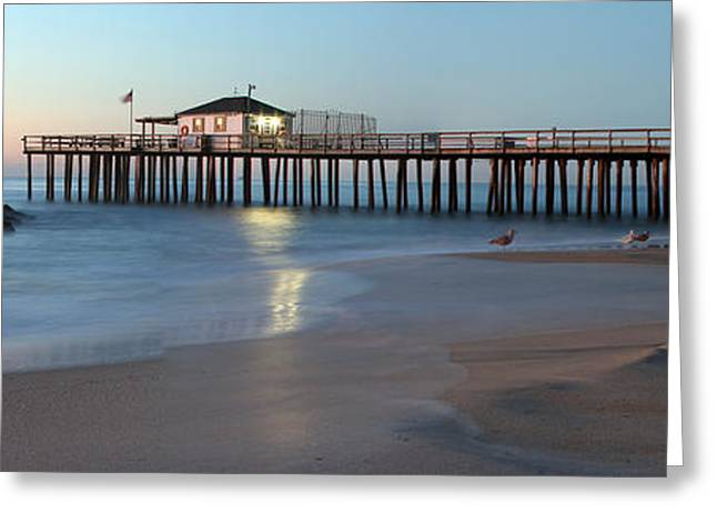 Ocean Grove Fishing Pier Greeting Card by Jeff Bord