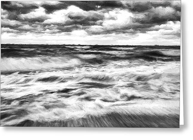 Ocean In Flux II Greeting Card by Jon Glaser