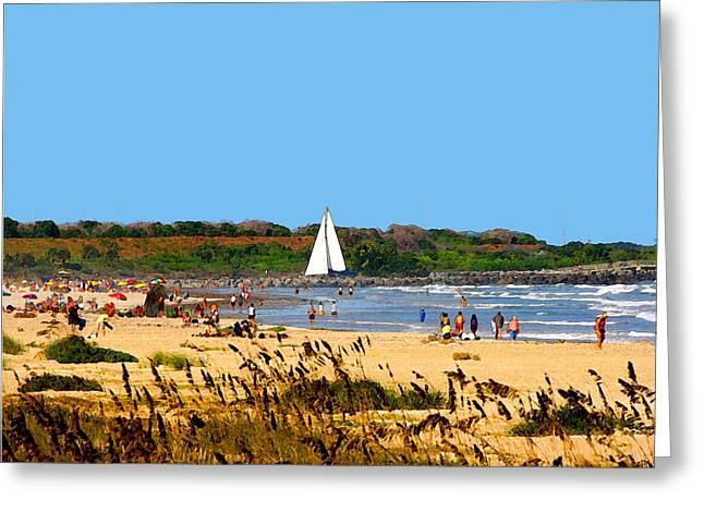 ocean Inlet Greeting Card by W Gilroy