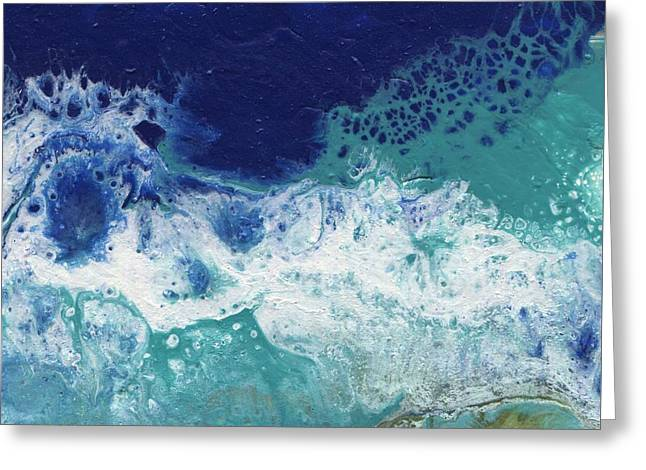 Greeting Card featuring the painting Ocean by Jamie Frier