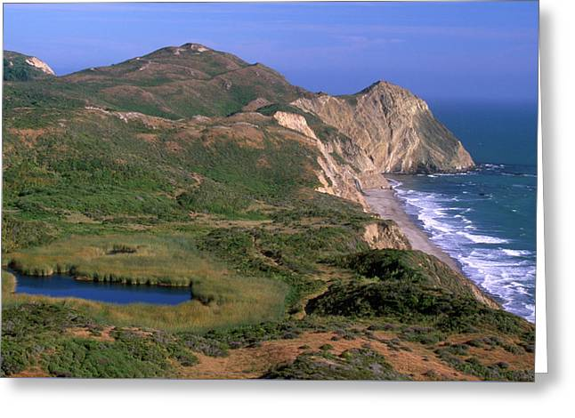 Ocean Lake And Wildcat Beach - Point Reyes National Seashore Greeting Card by Soli Deo Gloria Wilderness And Wildlife Photography