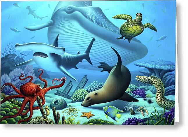 Ocean Life Greeting Card