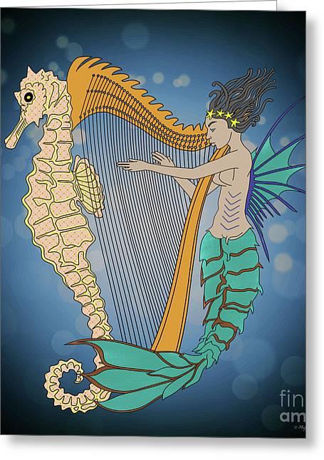 Greeting Card featuring the digital art Ocean Lullaby3 by Megan Dirsa-DuBois