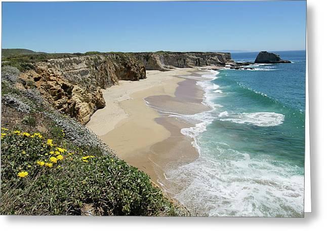 Ocean Panorama - Santa Cruz - California Greeting Card by Brendan Reals