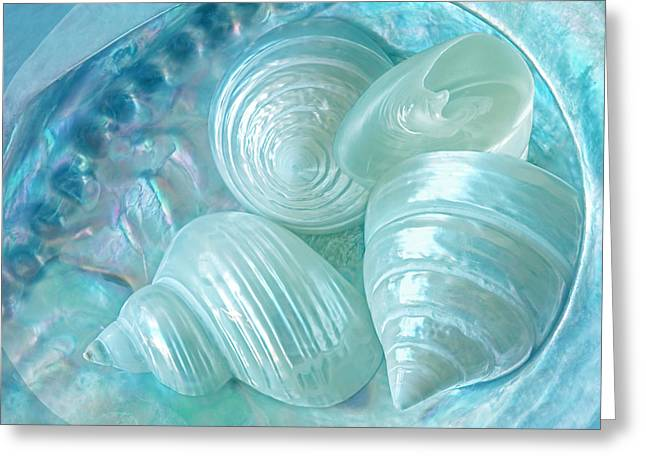 Ocean Pearl Treasure Greeting Card by Gill Billington
