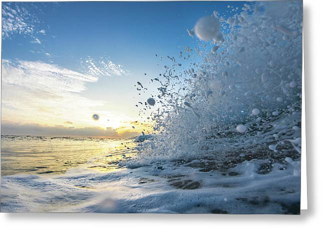Ocean Pearls Greeting Card by Sean Davey
