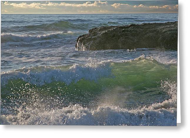 Greeting Card featuring the photograph Crashing Waves by Elvira Butler