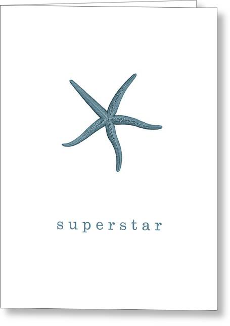 Ocean Quotes Superstar Greeting Card by Erin Cadigan