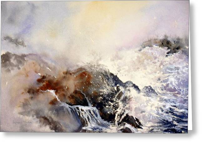 Ocean Rage Greeting Card by Lynne Parker