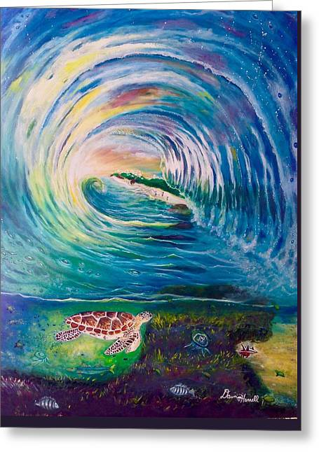 Greeting Card featuring the painting Ocean Reef Beach by Dawn Harrell