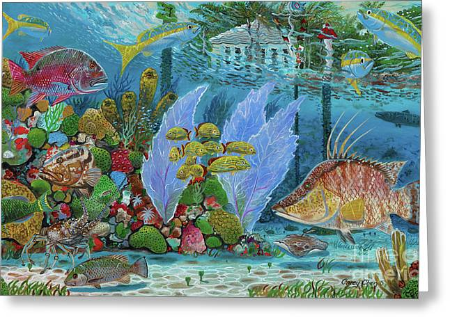 Ocean Reef Paradise Greeting Card by Carey Chen