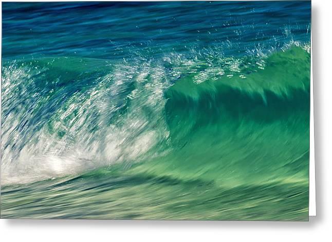 Ocean Ripples Greeting Card by Stelios Kleanthous