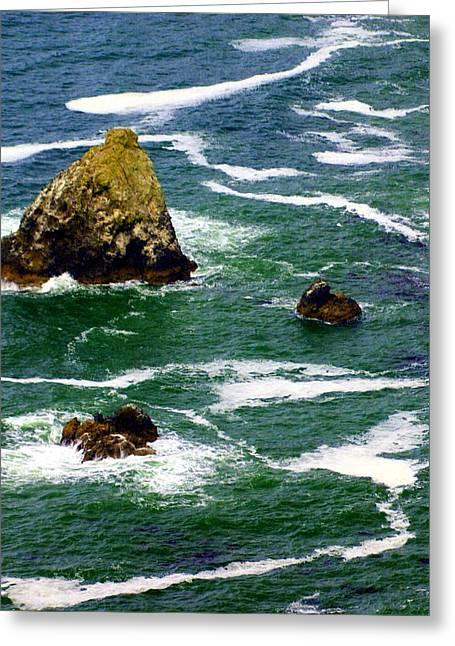 Ocean Rock Greeting Card by Marty Koch