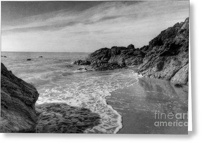 Ocean Rush Greeting Card by Ian Mitchell