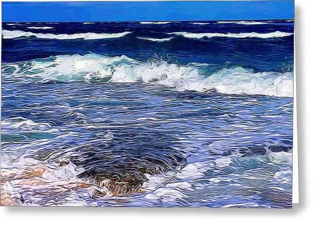Ocean Scene In Abstract 14 Greeting Card