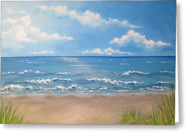Ocean Scene Painting By Joanne Burns