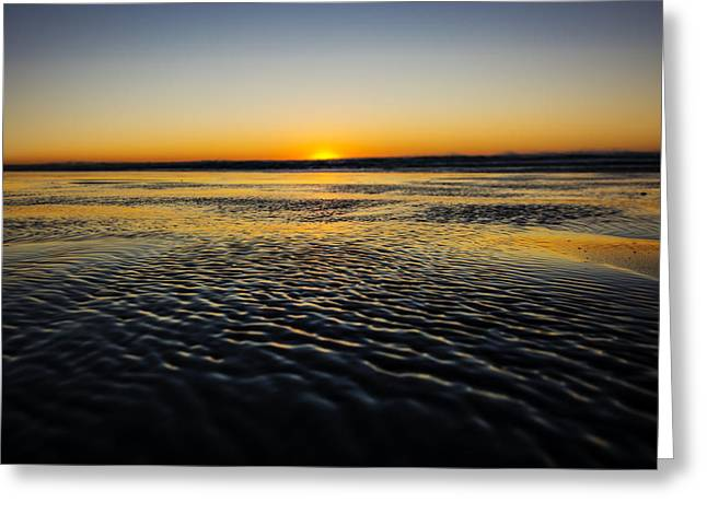 Ocean Shores Sunset Greeting Card