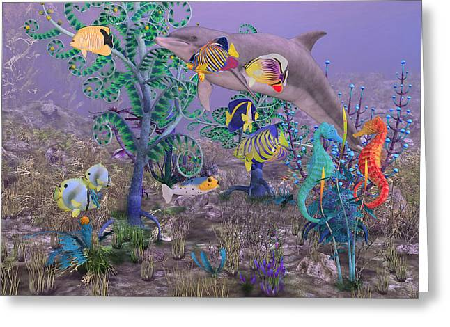 Ocean Spirits Greeting Card by Betsy Knapp