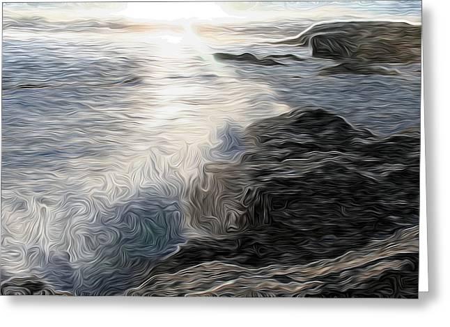 Ocean Splash Greeting Card by Carol Crisafi