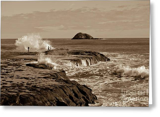 Greeting Card featuring the photograph Ocean Splash by Yurix Sardinelly