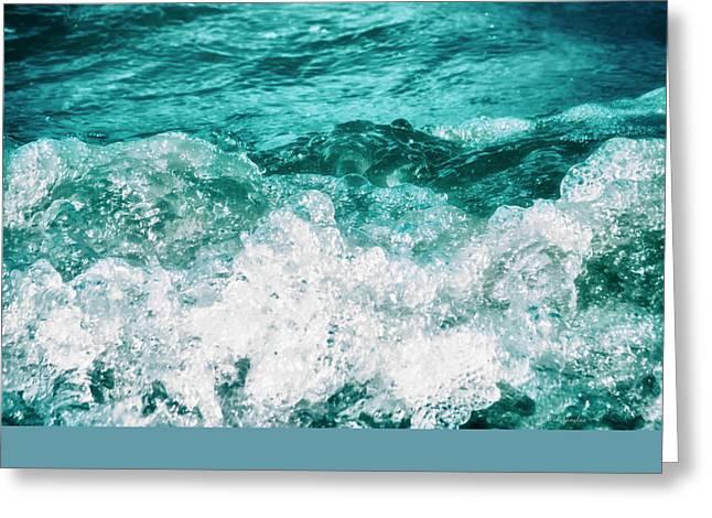 Ocean Splashes Greeting Card by Wim Lanclus