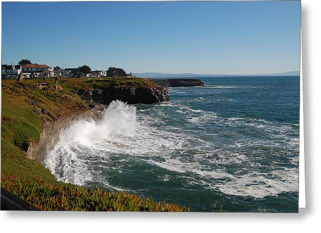 Ocean Spray In Santa Cruz Greeting Card by Garnett  Jaeger