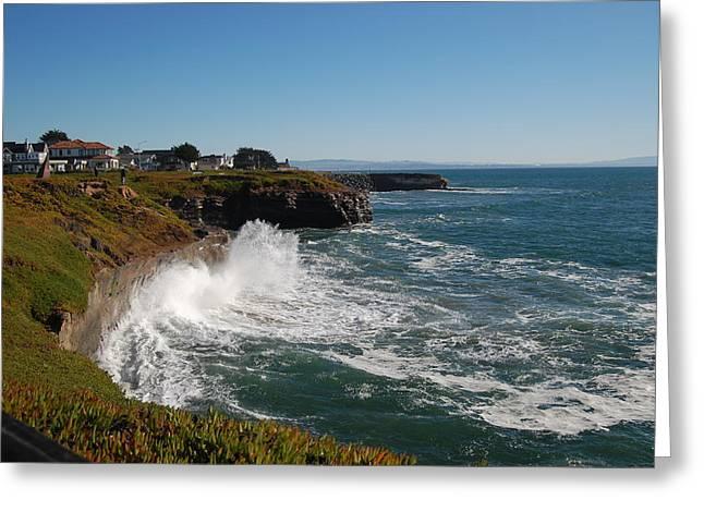 Ocean Spray In Santa Cruz Greeting Card by Garnett  Jaeger