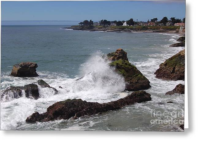 Ocean Spray West Cliff Greeting Card