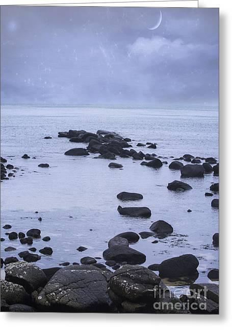 Ocean Stones Greeting Card by Juli Scalzi