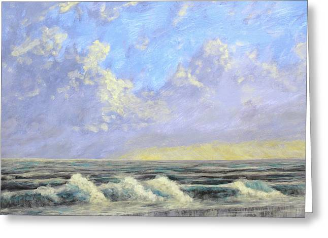 Ocean Storm Sunrise Greeting Card