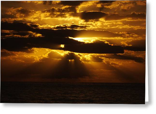 Outer Banks Rodanthe, Nc Golden Sunrise B Greeting Card by Cindy Treger