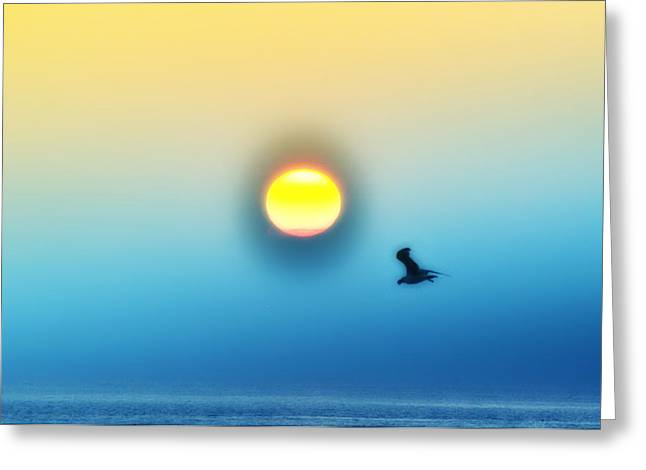 Ocean Sunrise Greeting Card by Bill Cannon