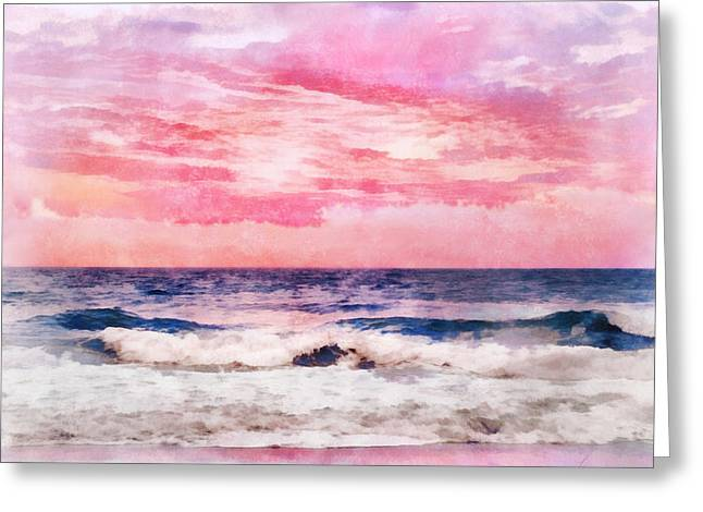 Ocean Sunrise Greeting Card by Francesa Miller
