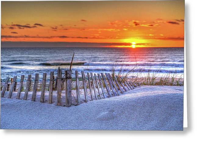 Ocean Sunrise From The Dunes Greeting Card