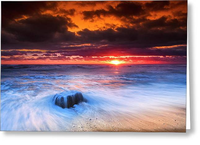 Ocean Sunrise March 30 2017 Greeting Card by Dapixara Art