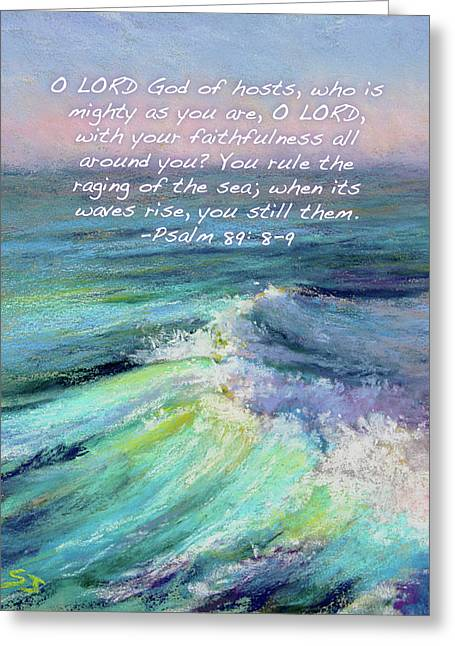 Ocean Symphony With Bible Verse Greeting Card