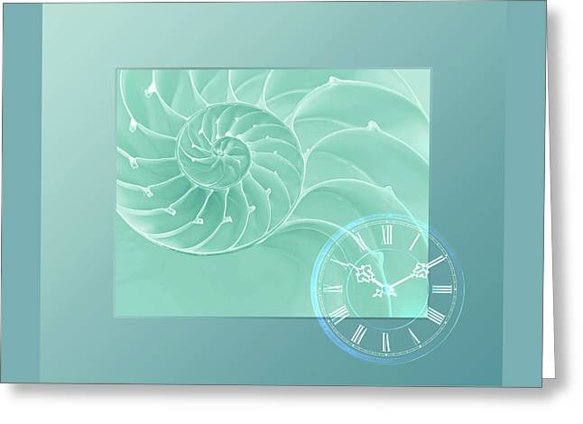 Ocean Time Greeting Card by Gill Billington